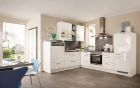 Einbauküche Focus in Hochglanz weiß, inklusive Leonard Elektrogeräte