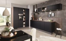 Einbauküche Touch in schwarz, inklusive Privileg Elektrogeräte