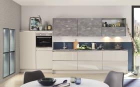 Einbauküche Focus in Hochglanz sand, inklusive Leonard Elektrogeräte