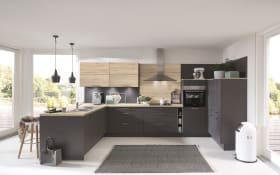 Einbauküche Touch, schiefergrau, inklusive Elektrogeräte