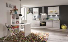 Einbauküche Riva, Beton grau Nachbildung, inklusive Elektrogeräte