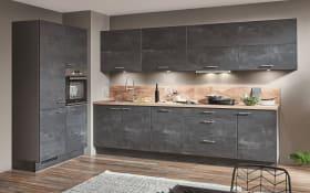 Einbauküche Speed, schwarzbeton farbend, inklusive Elektrogeräte