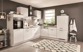 Einbauküche Speed, seidengrau, inklusive Elektrogeräte