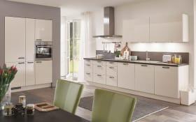 Einbauküche Flash, magnolia Hochglanz, inklusive Elektrogeräte