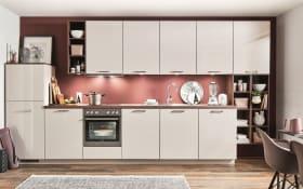 Einbauküche Flash, magnolia, inklusive Elektrogeräte