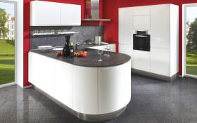 Einbauküche Lumos in weiß, Bauknecht Geschirrspüler BIE2B19