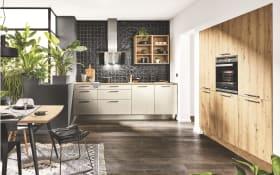 Einbauküche Steel MAX in Metall-Nachbildung, inklusive Siemens Elektrogeräte