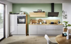 Einbauküche Laser brillant, perlgrau, inklusive Privileg Elektrogeräte