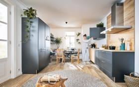 Einbauküche in graphit, AEG Elektrogeräte inklusive