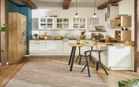 Einbauküche Malaga, weiß, inklusive Privileg Elektrogeräte