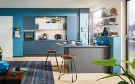 Einbauküche Uno, graphit, inklusive AEG Elektrogeräte