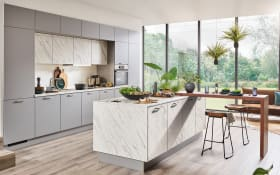 Einbauküche Laser Soft, perlgrau, inklusive Siemens Elektrogeräte