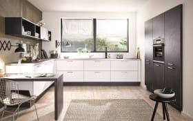 Einbauküche Uno, polarweiß, inklusive Siemens Elektrogeräte