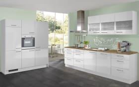 Einbauküche IP4050, weiß, inklusive Elektrogeräte, inklusive AEG Geschirrspüler
