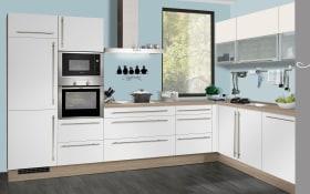 Einbauküche IP1200, weiß, inklusive Elektrogeräte, inklusive AEG Geschirrspüler