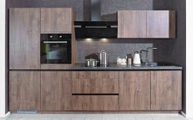 Einbauküche IP2200 in Oregon Eiche-Nachbildung, inklusive  Elektrogeräte, inklusive Siemens Geschirrspüler
