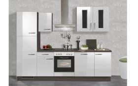 Einbauküche IP.4050, Hochglanz weiß, inklusive Elektrogeräte