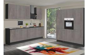 Einbauküche Star 236 graublau, inklusive Premiere Elektrogeräte