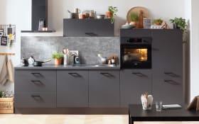 Einbauküche IP1200 in graphit, Privileg Elektrogeräte inklusive