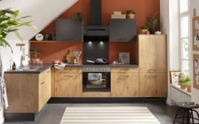 Einbauküche IP1200, Vintage Eiche Nachbildung, inklusive Privileg Elektrogeräte