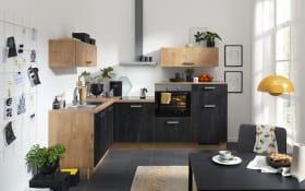 Einbauküche IP1200, Bandstahl farbend, inklusive Privileg Elektrogeräte