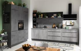 Einbauküche IP 1200, beton farbend, inklusive Privileg Elektrogeräte