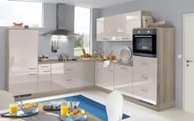 Einbauküche 744 PN400 655 sandbeige Hochglanz, inklusive Zanker Elektrogeräte