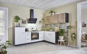 Einbauküche 750, weiß, inklusive Zanker Elektrogeräte