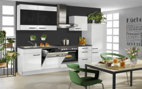 Einbauküche PN 220 in weiß, Zanker Geschirrspüler KDI10004XB