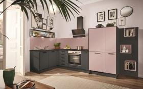 Einbauküche PN80 in graphit, inklusive Zanker Elektrogeräte