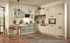 Einbauküche PN100 in Sonoma Eiche-Nachbildung, Zanker Backofen KOB10401XB
