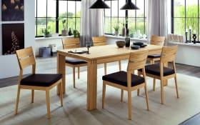Stuhlgruppe Soleo 3000 in europäischer Wildeiche soft gebürstet massiv
