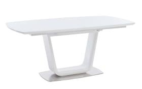 Esstisch Xander in weiß, mit ausziehbarer Glastischplatte