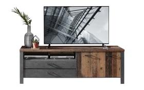 TV-Unterteil Cardiff in Used Style Dark / Matera Nachbildung