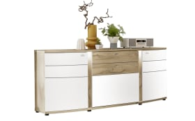 Sideboard Terra Plus in weiß matt/Eiche Altholz-Nachbildung