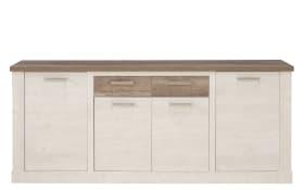 Sideboard Duro in Pinie-Nachbildung weiß