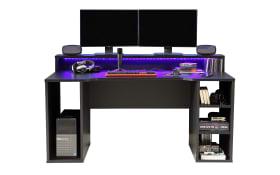 Gamingtisch Tezaur in schwarz Matt