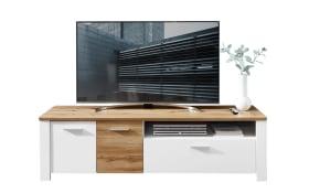 Lowboard 6011 in Holz-Nachbildung/weiß, 180 cm
