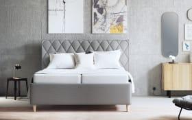 Polsterbett Brilliant in grau, Liegeflächenbreite ca. 180 cm, mit Tonnen-Taschenfederkernmatratzen