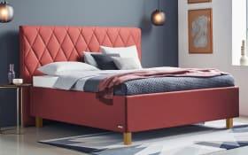 Polsterbett Brilliant in rot, Liegefläche ca. 180 x 200 cm, 1 x in Härtegrad 2 und 1 x in Härtegrad 3