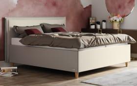 Polsterbett Sensation in beige, Liegefläche ca. 180 x 200 cm,  Härtegrad 2 und  Härtegrad 3
