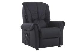 TV-Sessel RX 34 in Torro schwarz, mit manueller Verstellung