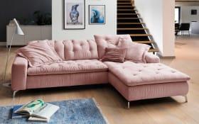 Wohnlandschaft Laconia in rosa, inklusive Rückenverstellung