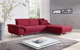 Wohnlandschaft Time in rubinrot, inklusive Sitztiefenverstellung