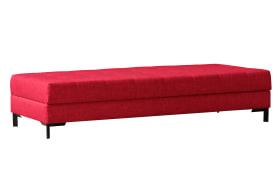 Einzelliege Cella in weinrot, mit Bettkasten, Liegefläche ca. 80 x 200 cm