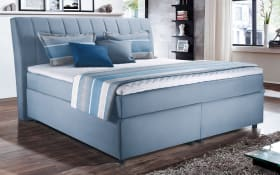 Boxspringbett Diamanti 4011 in hellblau, ca. 160 x 200 cm