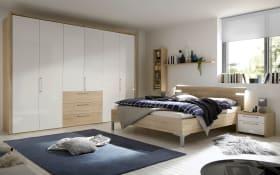 Schlafzimmer Solo Nova in Bianco weiß/Eiche Macao-Nachbildung