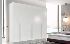 Drehtürenschrank L1000 in Lack bianco weiß, Breite 302 cm, mit 6 Drehtüren