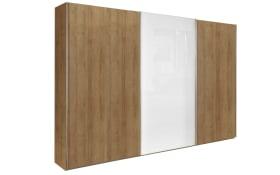 Schwebetürenschrank Marcato 2.1 in weiß/Riviera Eiche-Nachbildung, Breite ca. 270 cm