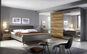 Schlafzimmer Nando in graphit/Appenzeller Fichte-Nachbildung, Liegefläche 180 x 200 cm
